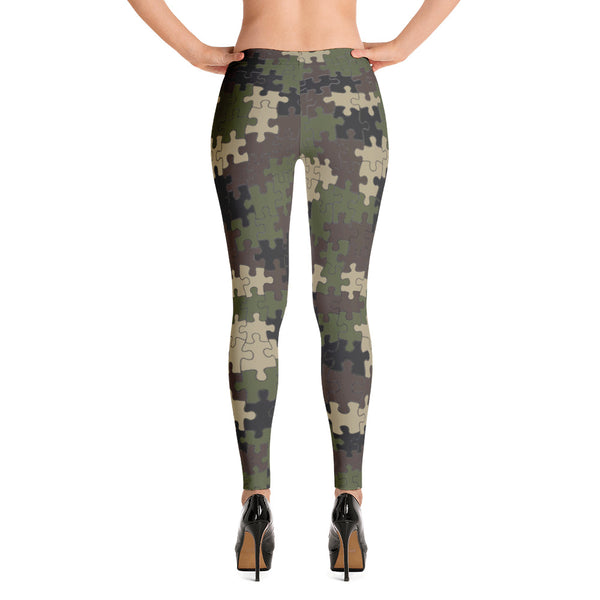 Puzzled Camouflage Leggings