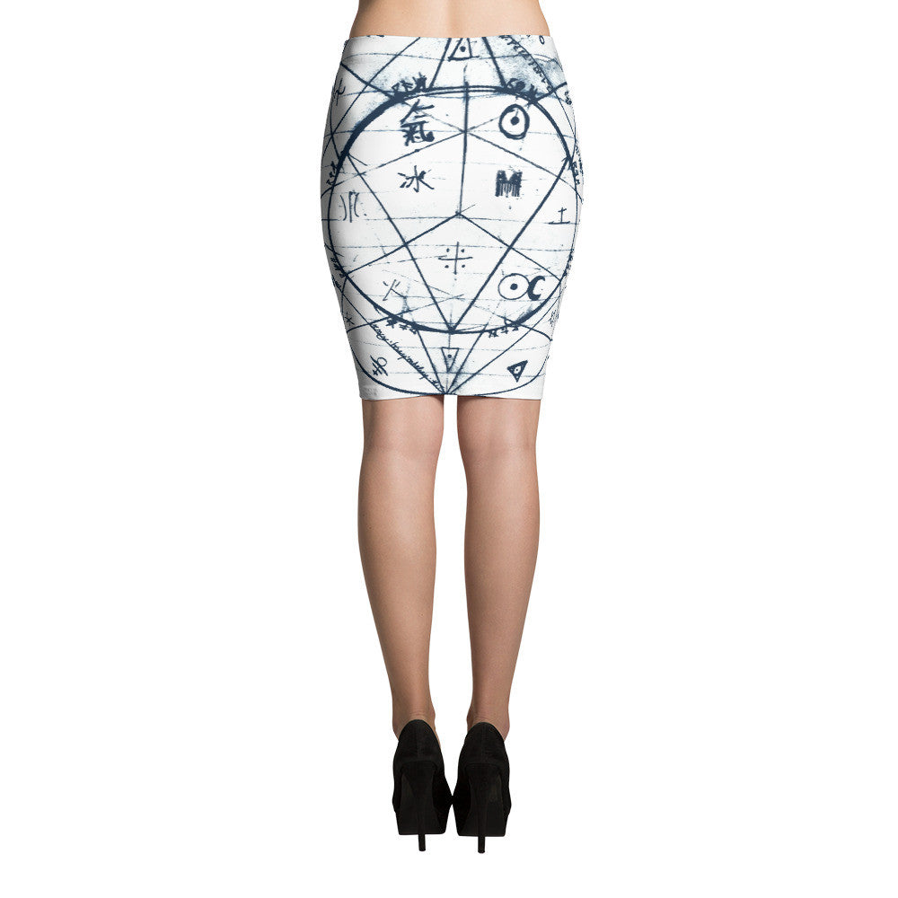 """Ultimetal"" Pencil Skirt [White]"