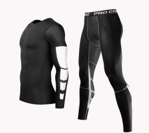 Men Professional Training Compression Outfit