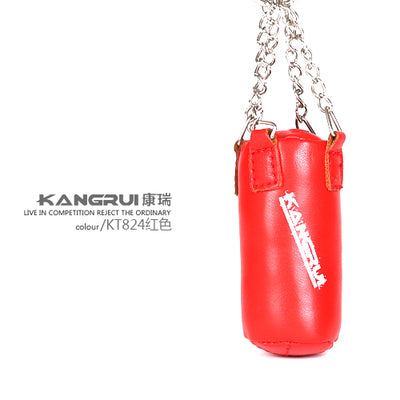 Red Boxing Bag Keychain