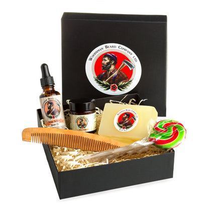 Classic cedar-wood gift set woodsman beard company