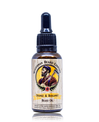 Orange & Bergamot Beard Oil - [shop-name] -Beard oil, beard balm, gift sets, clothing, men's, organic.