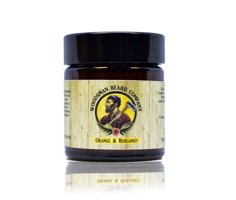 Orange & Bergamot Beard Balm 30ml - [shop-name] -Beard oil, beard balm, gift sets, clothing, men's, organic.