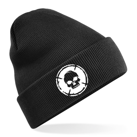 Skull Beanie Hat - [shop-name] -Beard oil, beard balm, gift sets, clothing, men's, organic.