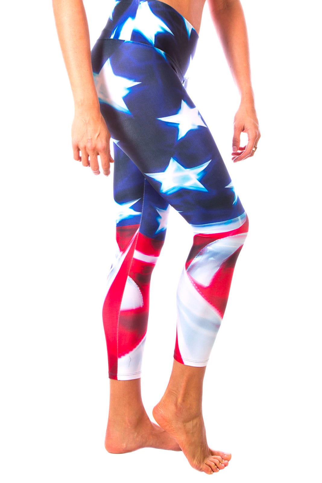 American Flag One Yoga Pants