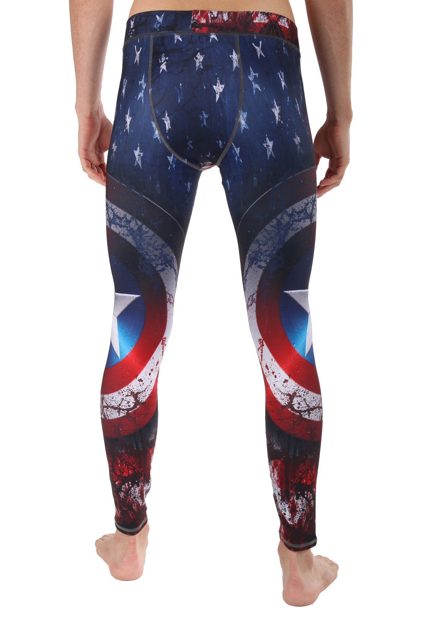 Super Hero Yoga Pants- Captain America Men's Legging. Find this beast pattern in the I'm A Patriot LavaLoka Collection.