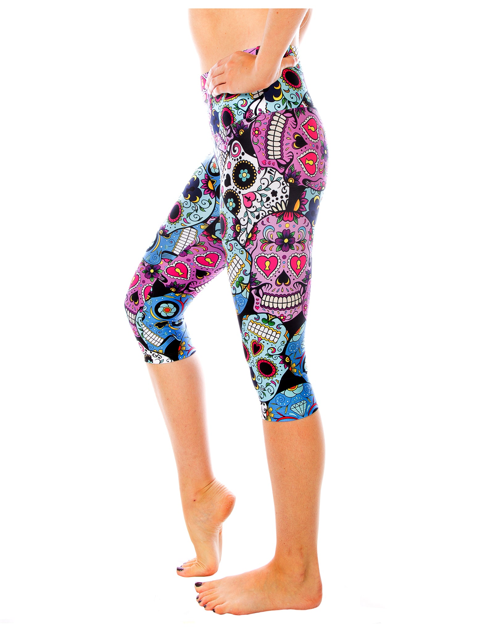 Cinco de Mayo Capri Leggings and Yoga Pants | Compression & Comfortable Capris | Activewear for Gym, Yoga, Pilates