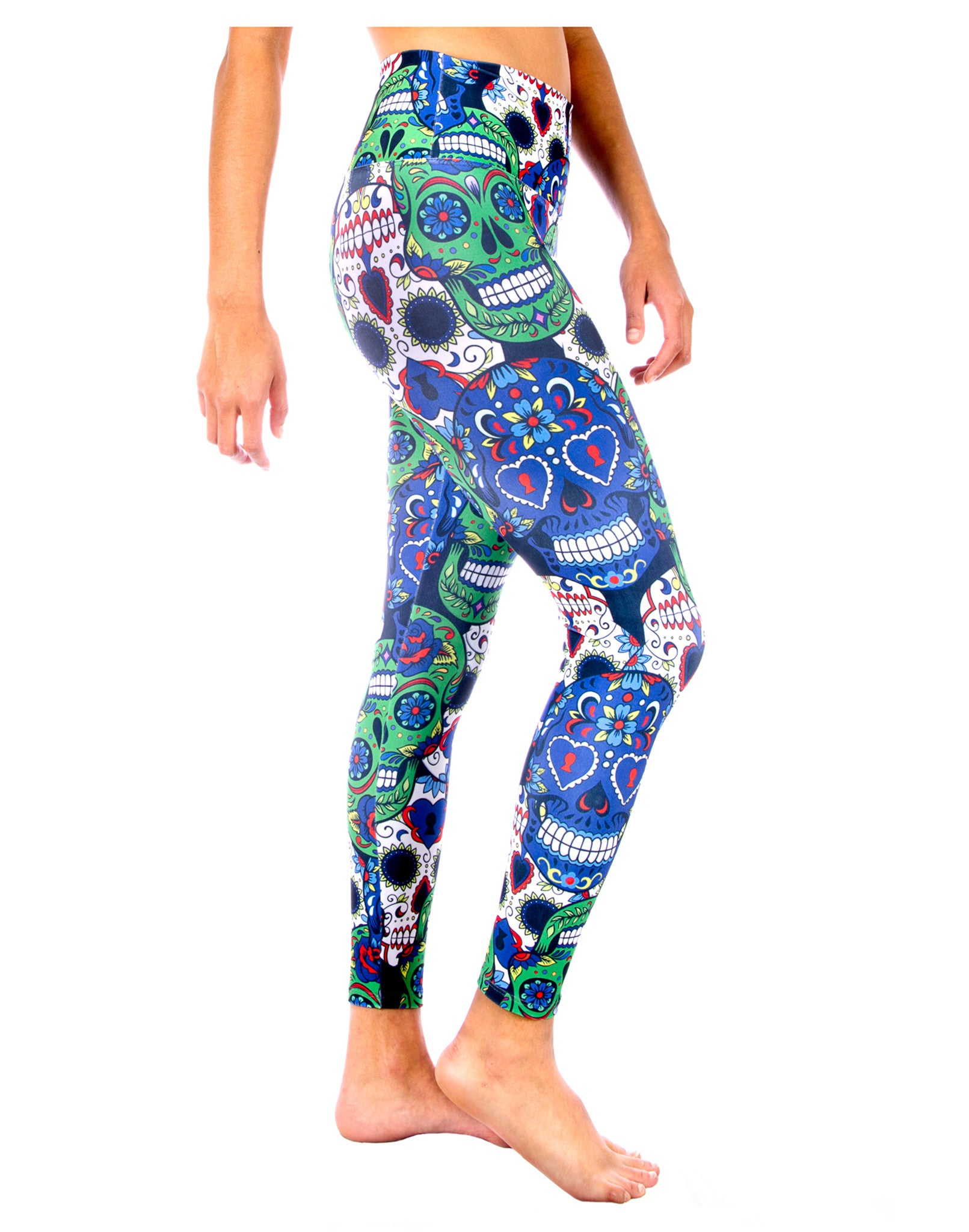 8b7c886334e Skull Yoga Pants- Cinco De Mayo Skull Legging - Skull Swag Yoga Pants  Collection by ...