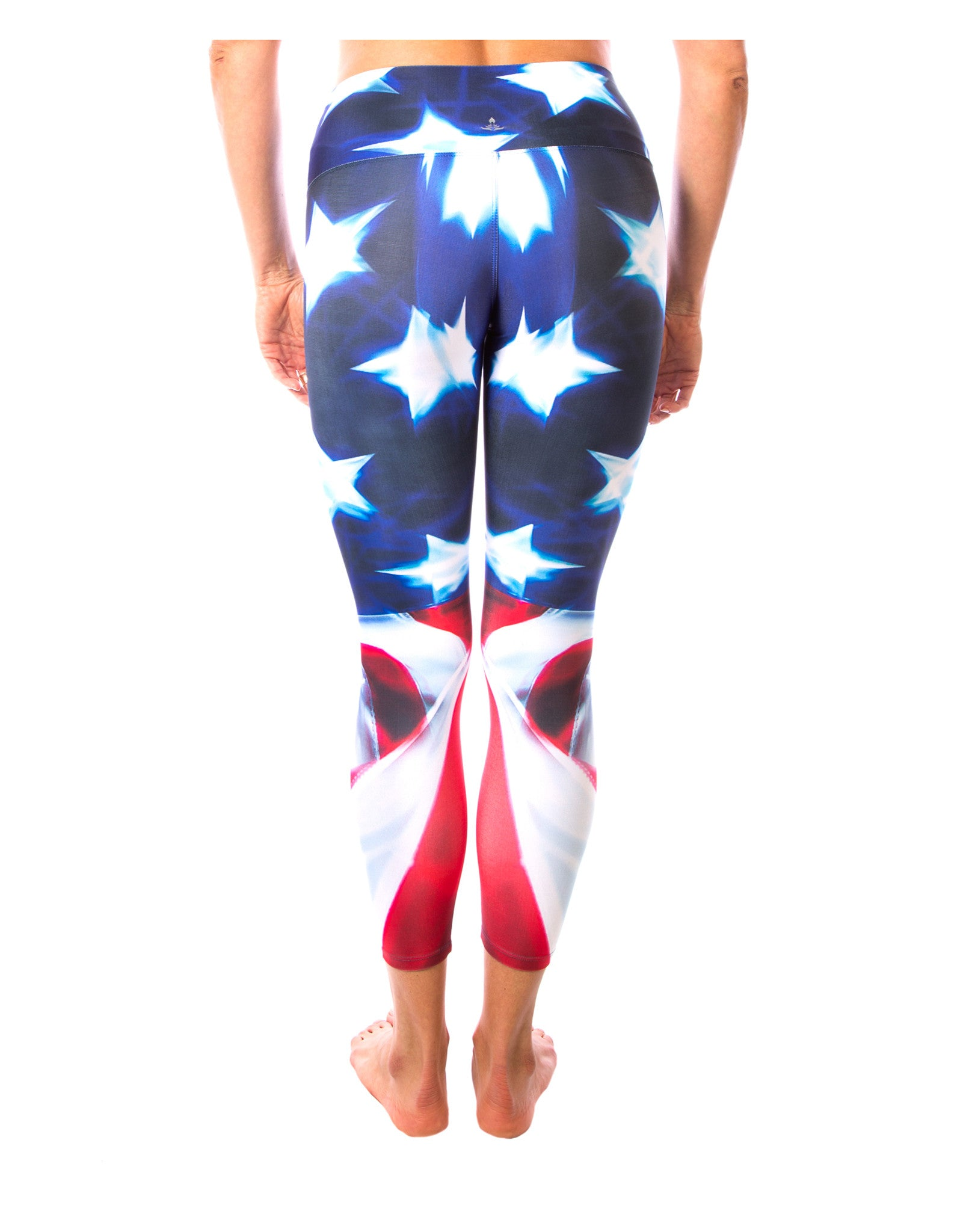 Patriotic Yoga Pants- American Flag One Legging from the Patriotic Me LavaLoka Yoga Pants Collection. Show the Patriot in You. Hit the gym in Red, White and Blue Stars and Stripes.