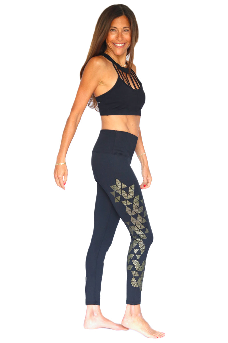Crystal Bling Yoga Pants