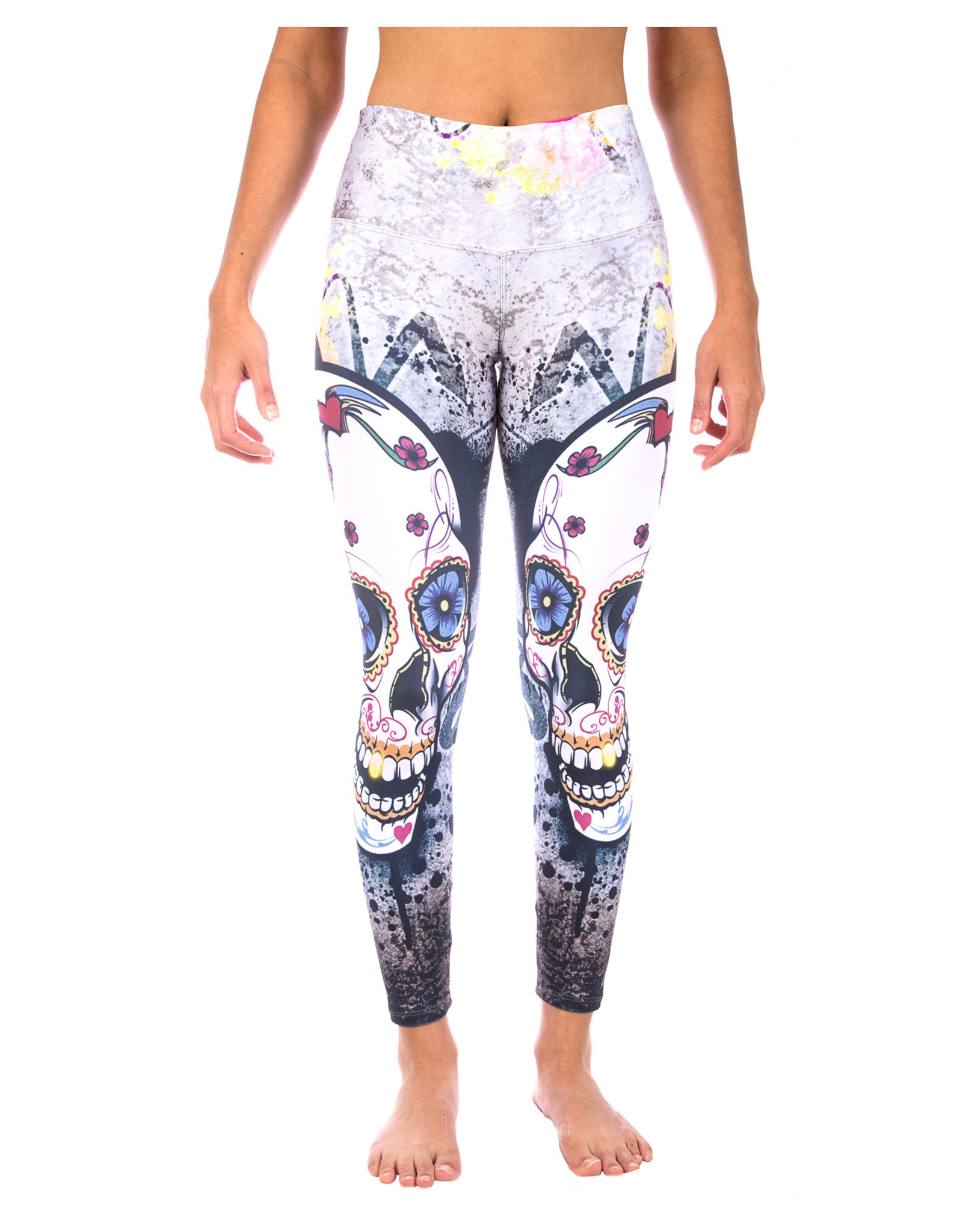 db4ccf0425a33 Gold Digger Skull Yoga Pants | Day of the Dead Leggings | LavaLoka ...