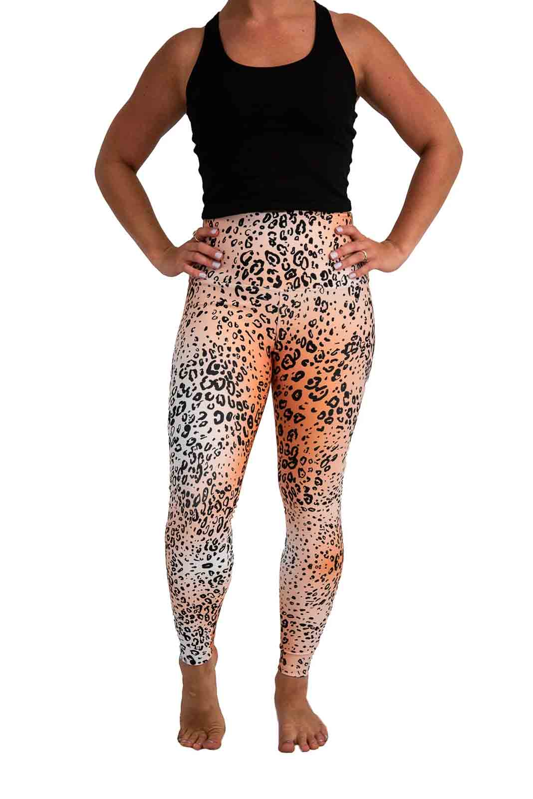 Golden Cheetah Yoga Pants