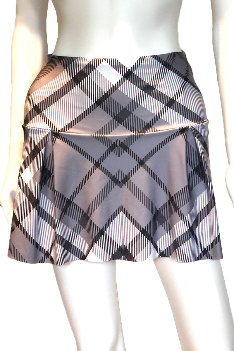 Grey Plaid Tennis Skirt