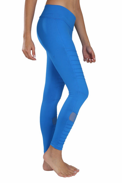40b289755e Blue mesh moto yoga pants - comfy and high quality leggings for the gym and  the