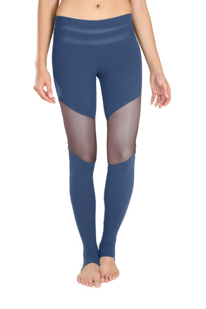 Navy Mesh Leggings