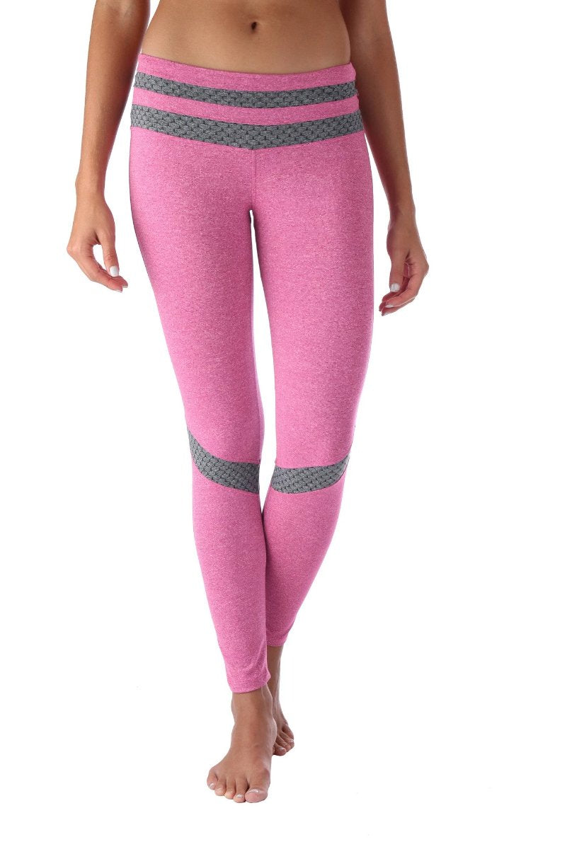 Pink Honeycomb Legging