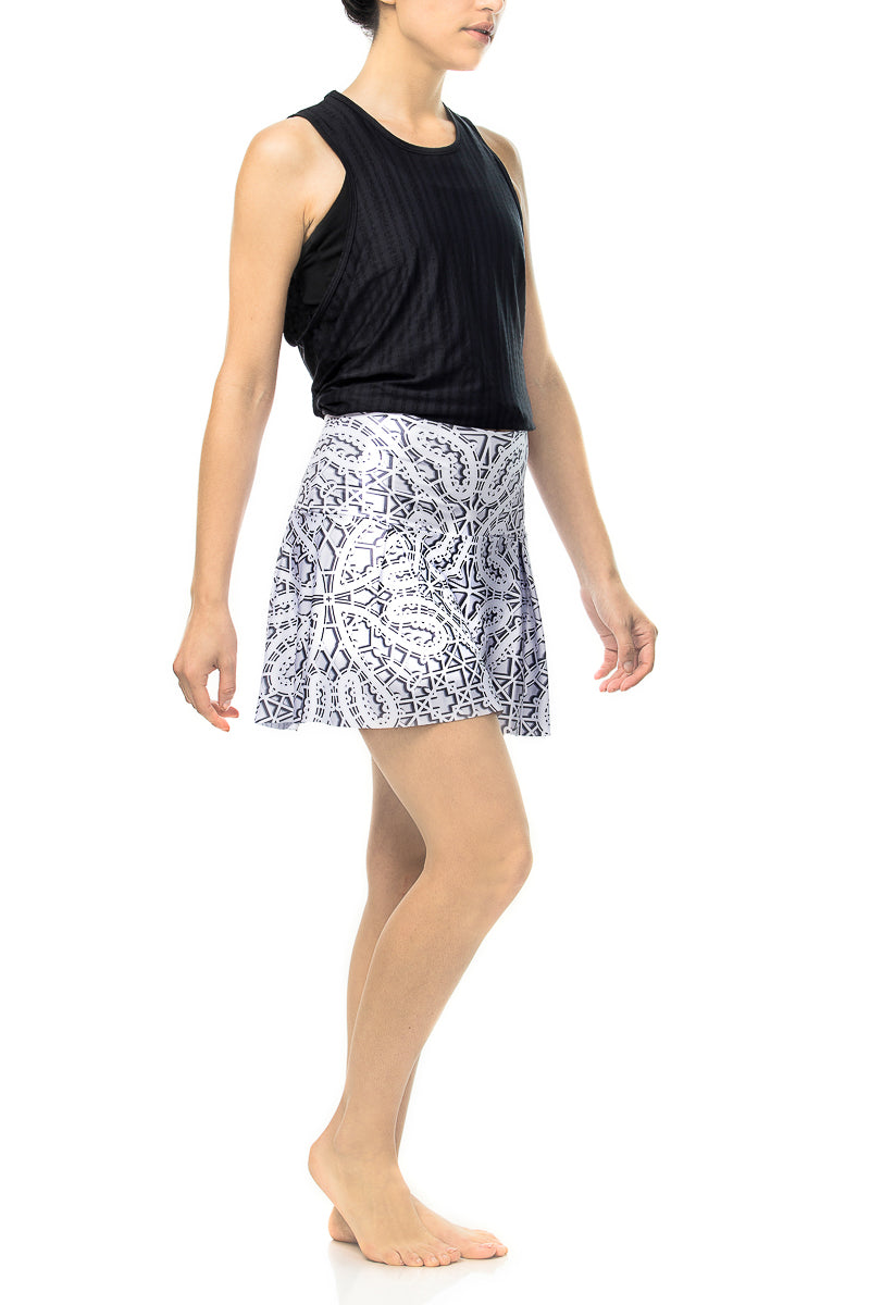 Grey Lace Tennis Skirt