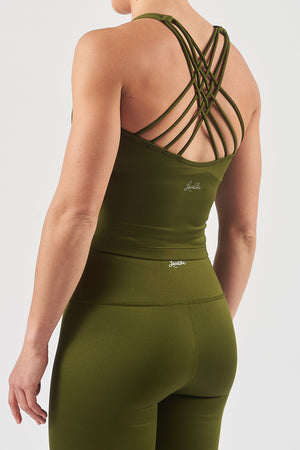 Olive Green Workout Top
