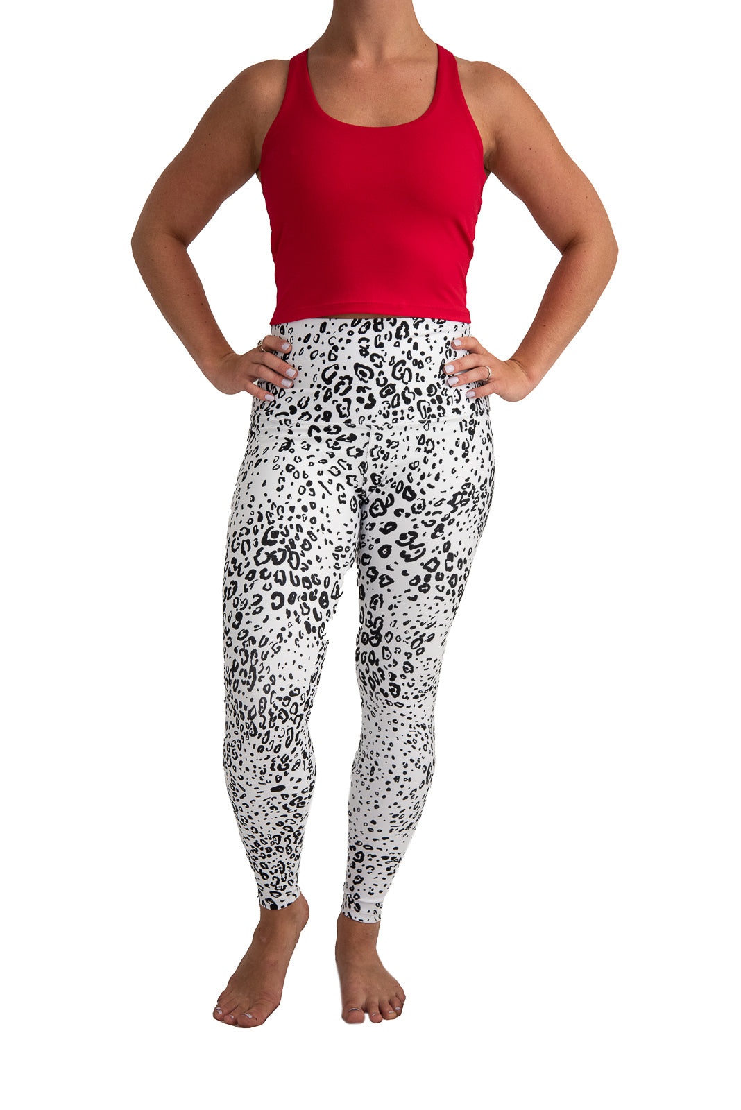 Black & White Cheetah Yoga Pants