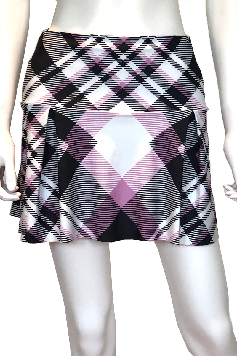 Lavender Plaid Tennis Skirt