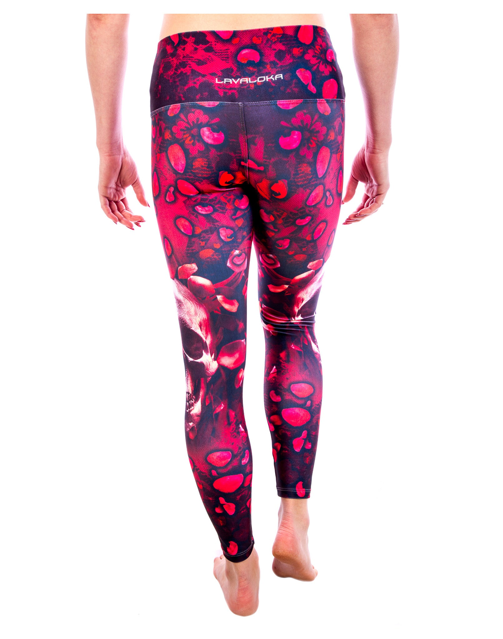 dd64f802ca ... Skull Yoga Pants - Red Hot Skull Swag Legging Collection by LavaLoka