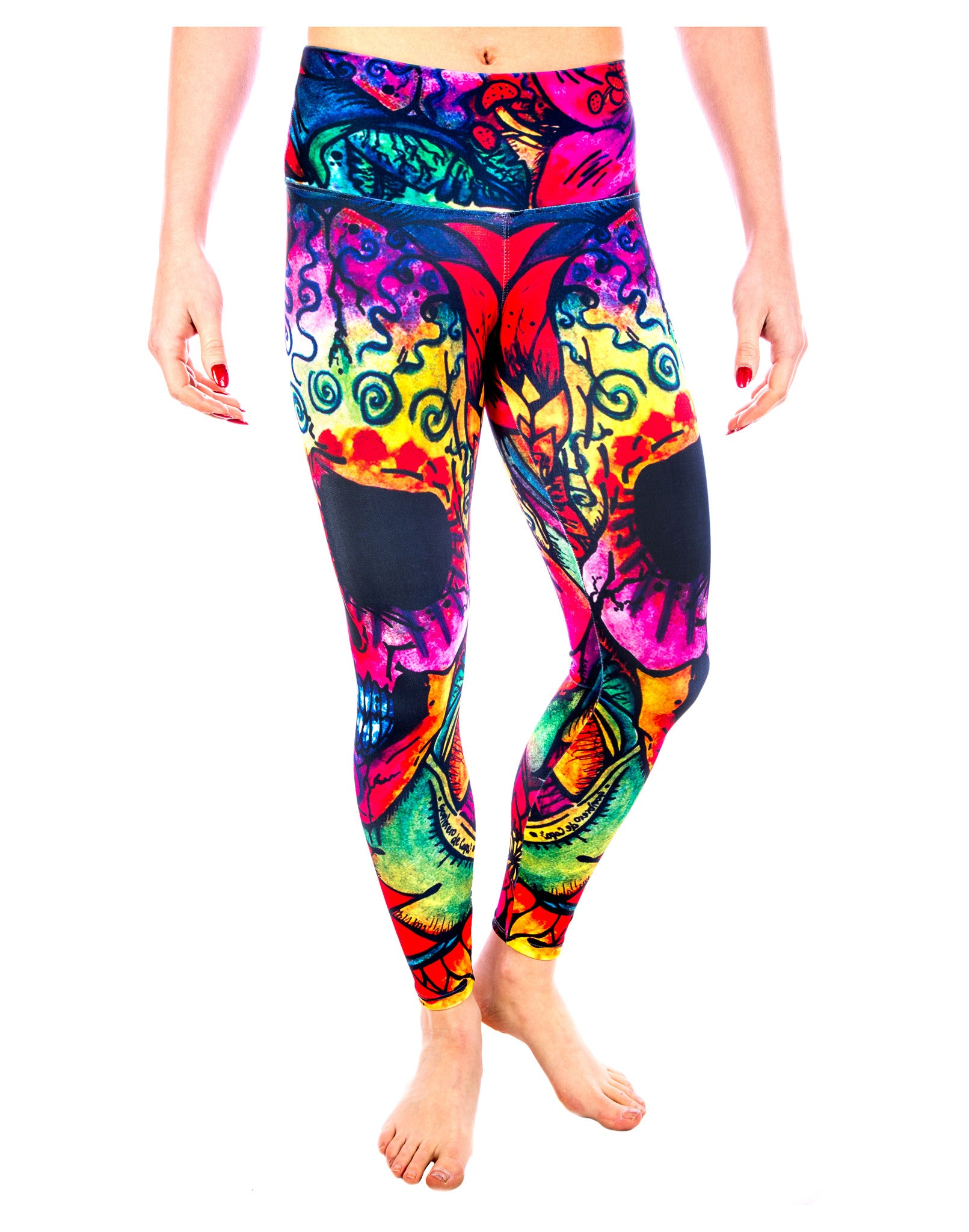 Skull Yoga Pants - Sugar Skull Radiance Legging - Skull Swag Collection by LavaLoka
