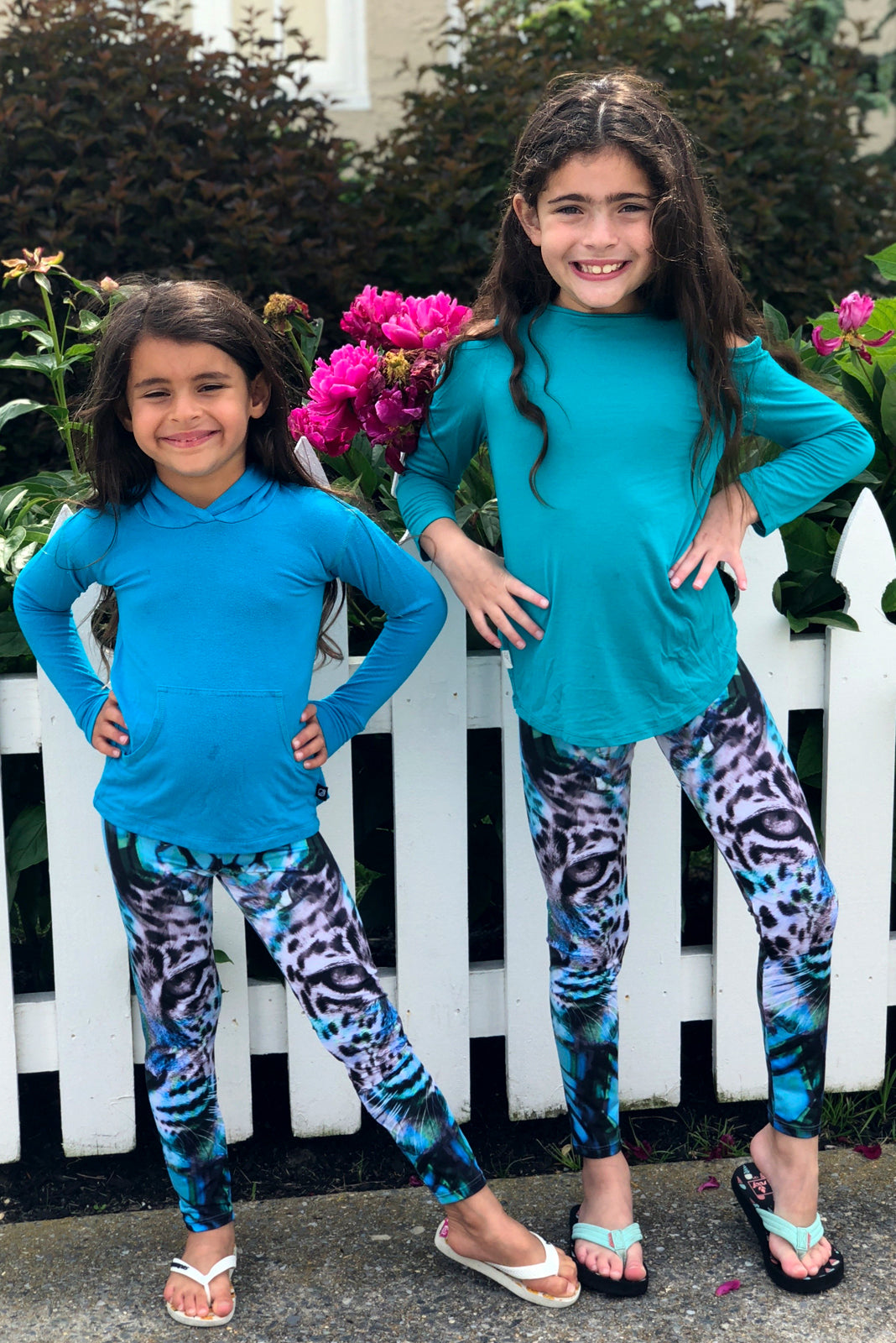 Turquoise Siberian Tiger Legging for Kids