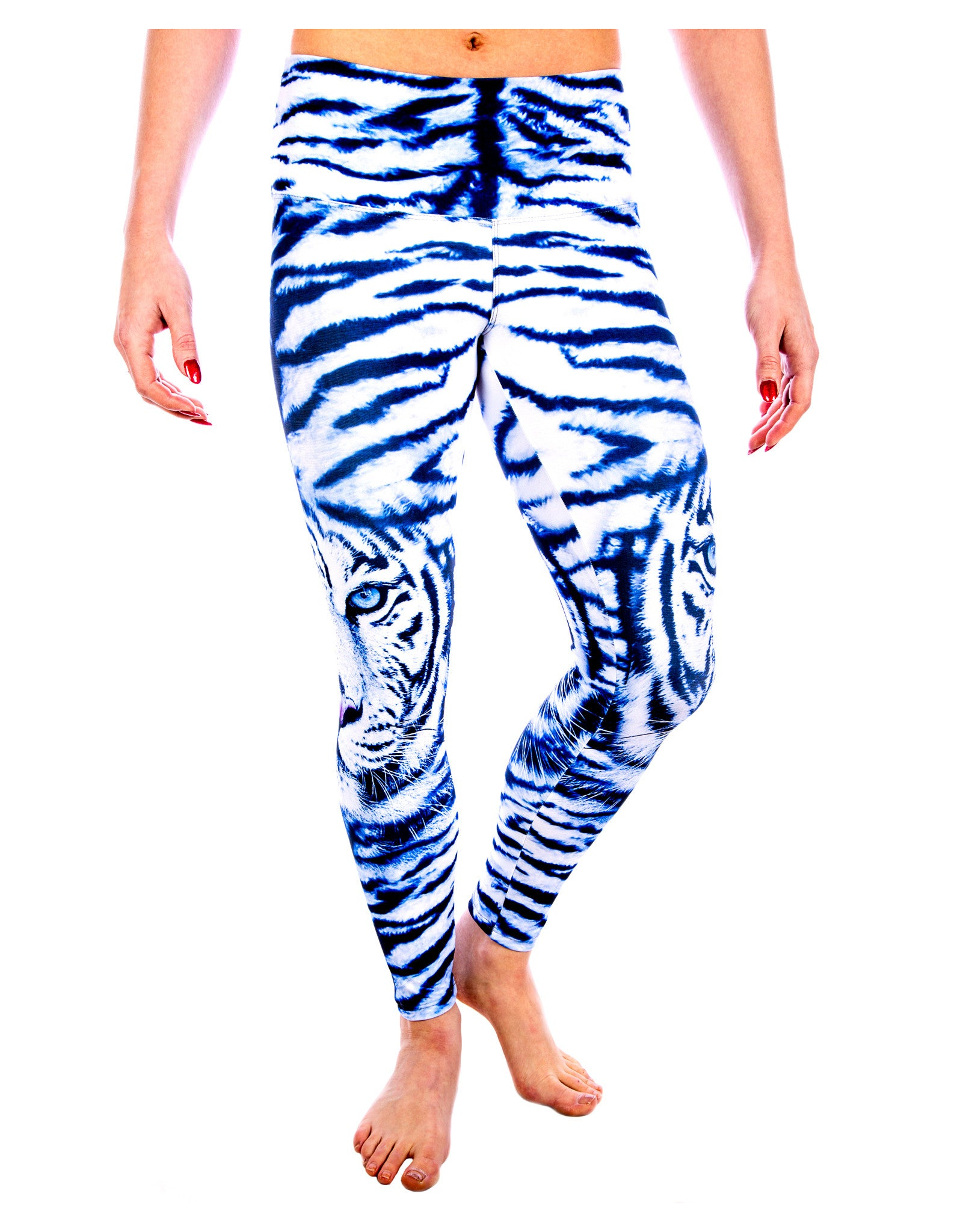 923c8bc7c2 ... Yoga Pants - White Out Snow Tiger Legging - Animal In Me Yoga Pants  Collection by