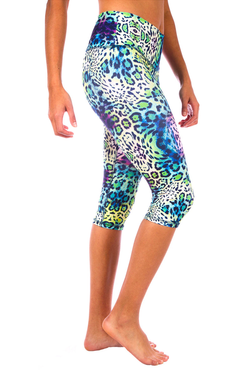 Wild Cat Capri Yoga Pants