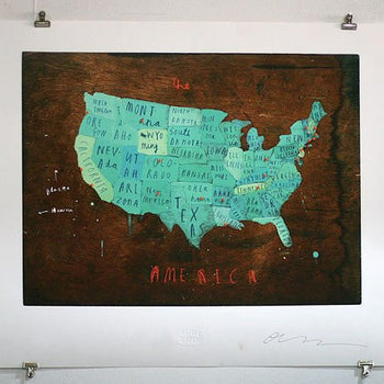 America Map with Pins