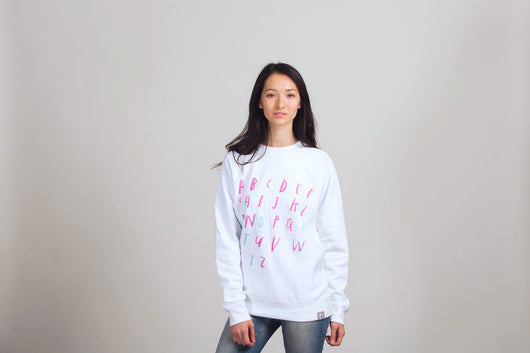 ABC Story White Sweatshirt: Adult - Oliver Jeffers Stuff