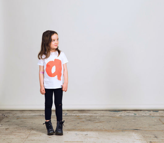 'a' T-Shirt: Kids - Oliver Jeffers Stuff