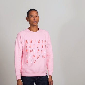 ABC Story Pink Sweatshirt: Adult - Oliver Jeffers Stuff