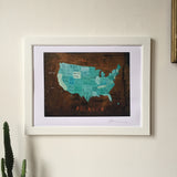 America Map Poster - Oliver Jeffers Stuff