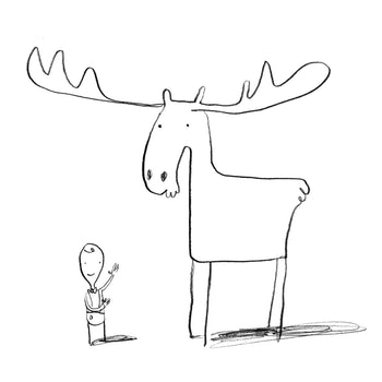 Colour the Moose - Oliver Jeffers Stuff