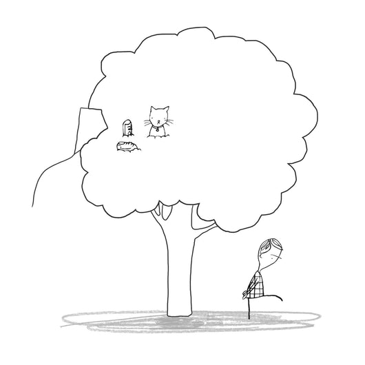Colour the Stuck tree - Oliver Jeffers Stuff