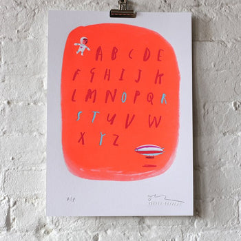 ABC Letterpress Print - Oliver Jeffers Stuff