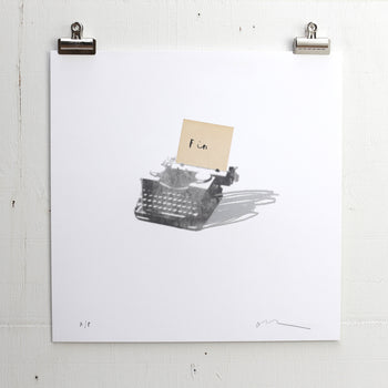 'Fin' Letterpress Print - Oliver Jeffers Stuff