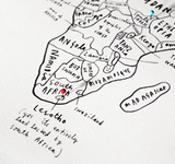World Map with Pins - Oliver Jeffers Stuff