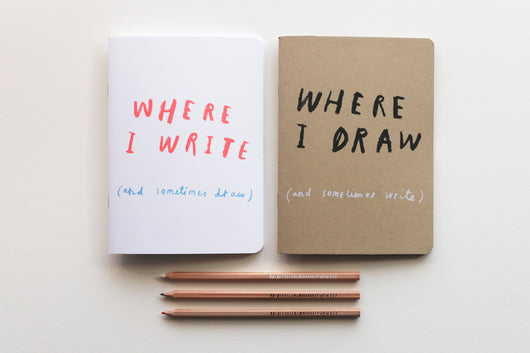 'Where I Write' & 'Where I Draw' set