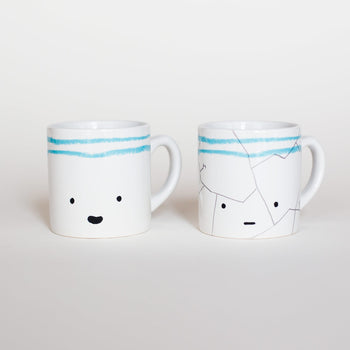 'Before and After' set of cups - Oliver Jeffers Stuff