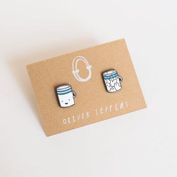 'Before and After' cup enamel pins