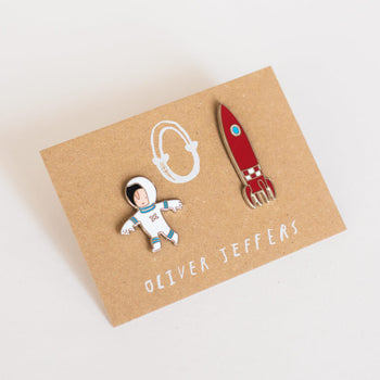 Edmund and the Rocket enamel pins - Oliver Jeffers Stuff