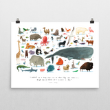 'The Animals' Art Poster - Oliver Jeffers Stuff