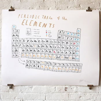 Periodic table of the elements - Oliver Jeffers Stuff