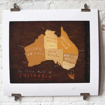 Australia Map with Pins - Oliver Jeffers Stuff