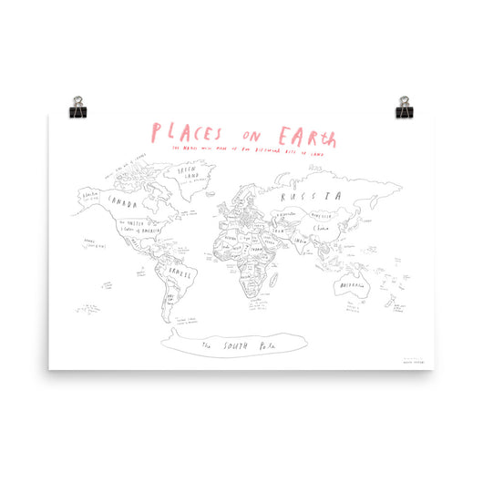 World Map Poster - Oliver Jeffers Stuff