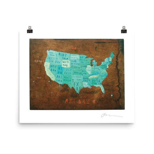 America Map Poster