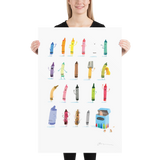 'The Crayons' Art Poster: Large