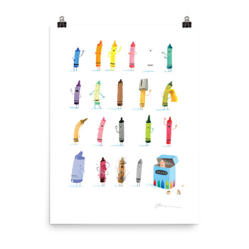 'The Crayons' Art Poster: Small - Oliver Jeffers Stuff
